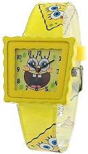 Nickelodeon SpongeBob SquarePants amarillo infantil informal reloj de pulsera