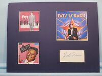 Saluting Rock N' Roll Great Fats Domino & his autograph