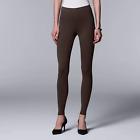 Simply Vera Wang Women's Brown Solid Cotton Leggings VW2013 - Siz S/M/XL/1X/2X
