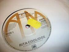 """RITA COOLIDGE- WORDS VINYL 7"""" 45RPM p"""