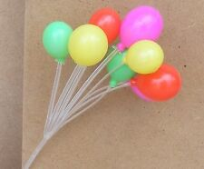 1:12th Scale Bunch Of Mixed Colour Plastic Dolls House Balloons Toy Accessory