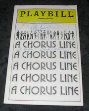 Playbill A CHORUS LINE, signed by 5, at the Shubert Theatre Boston, June 1980