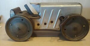 MARX Climbing Tractor Antique Metal Wind Up Toy No Driver No Tracks Running