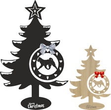 More details for akita christmas tree and bauble xmas decoration dog breeds table decoration