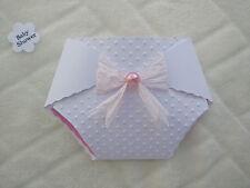 Set of 10 Pesonalised Nappy Baby Shower invitations Boys and Girls Handmade