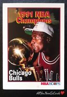 Michael Jordan 1991-92 NBA Hoops Champions Chicago Bulls Basketball Card #543 💋