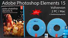 Adobe Photoshop Elements 15 version complète WIN/MAC BOX + DVD, instructions neuf dans sa boîte NEUF