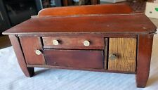 ANTIQUE HAND CRAFTED SALESMANS SAMPLE SIDEBOARD /BUFFET TOY 1920-40s DOLL HOUSE