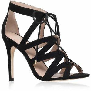 Ladies Carvela Kurt Geiger KG Luck High Heel Stilettos Black Suedette - UK 4 37