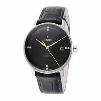 Rado Men's Coupole Classic R22860715 37.7mm Black Dial Leather Automatic Watch