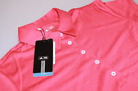 Ladies Adidas Climacool Tech S/S Golf Polo Shirt Punch Red/White Logo New Med 12