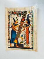 Genuine Hand Painted Egyptian Art on Papyrus Pharaoh Giving Reef To Queen