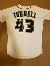 Rare Milwaukee Brewers Game Worn Lee Tunnell Jersey MLB AUTHENTICATED Size 46