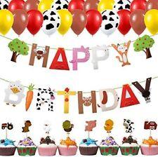 Farm Birthday Party Decorations Kit for kids Farm farm animals Cow Print balloon