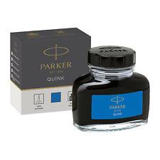 Parker Super Quink Fountain Pen Ink Bottle, 57ml, Washable Blue