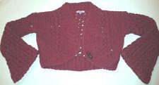 Frost French Women's 100% Merino Wool Burgundy Cardigan (One Size)