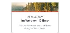 10 Euro Bahn Gutschein eCoupon