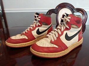 1985 Nike Air Jordan 1 OG Chicago White, Black, & Red Original Vintage Sneakers