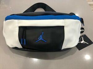 New Air Jordan Retro 10 Crossbody Bag/Fanny Pack Black White Blue 9A0188-459