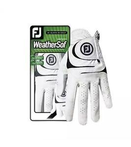 Footjoy Womens Weathersoft Golf Glove White Left new free shipping  medium