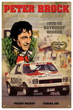 PETER BROCK A9X BATHURST WINNER VINTAGE TIN SIGN