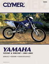 Yamaha YZ250 YZ250F WR250 WR250F 2001-2003 Clymer Manual M406 Nuevo