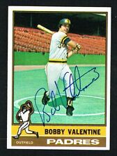 Bobby Valentine #366 signed autograph auto 1976 Topps Baseball Trading Card