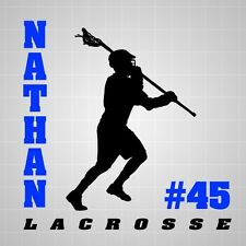 Lacrosse Wall Decal Boys Lax personalized Boys room wall stickers lacrosse team