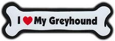Dog Bone Magnet: I LOVE MY GREYHOUND | Dogs Doggy | Car Automobile | Grey Hound