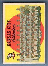 1959 Topps #172 A's Team VG-EX    Set Break A