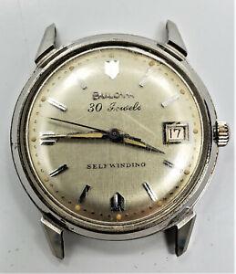 Running 1967 Bulova SelfWinding Automatic 30J Date Stainless Steel Wristwatch W2