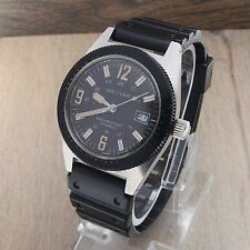 Vintage Waltham West Germany Divers Military Style Watch SS 38mm 17 Jewels