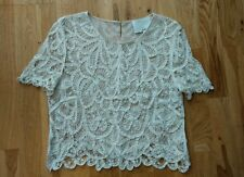 3.1 PHILLIP LIM Embroidered Lace Crochet Blouse Top