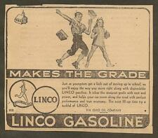 VINTAGE AD CLIPPED FROM NEWSPAPER - LINCO GASOLINE -1939