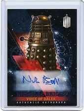 2016 Topps Doctor Who Timeless Nicholas Briggs as Voice of Dalek Auto!! 17/25!!
