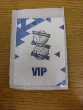 circa 2016 Birmingham City Ladies: VIP Pass (Laminated). Thanks for viewing this
