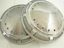 PLYMOUTH DIVISION DOG DISH HUBCAPS 1960s 1970s OEM STAINLESS