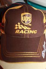 Vintage UPS racing team trucker hat brown / yellow mesh adjustable #88 hat