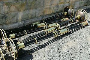 1 X black & gold brass lamp posts - garden light Ex display crown cassino !