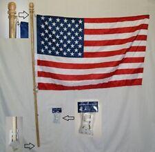 1.5m en bois non Furl TUBE DRAPEAU Kit avec / 0.8mx4 'Américain W/crochet