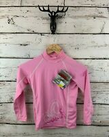 GILL Girls Long Sleeve Rash Vest JL Junior Large Pink Polyester BNWT