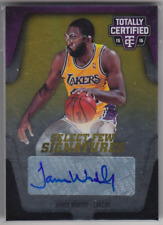 2015-16 Panini Totally Certified James Worthy Select Few Signatures Auto 03/25