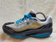 Skechers Shape-ups resistência Senhoras conforto sapatos Preto/Branco/Azul Reino Unido 7 EUR 40