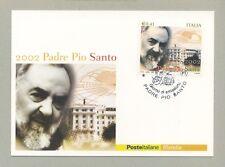 PADRE PIO SANTO CARTOLINA FILATELICA 2002 MAXI CARD