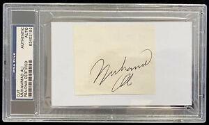 Muhammad Ali Signed Vintage Cut in PSA/DNA Certified Slab