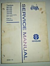 """New Holland Ford 5610S 6610S 7610S 7810S Tractor """"CLUTCHES"""" Service Shop Manual"""