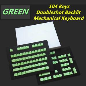 104 Keys PBT Keycap KeyCaps Backlit Doubleshot for Cherry MX Mechanical Keyboard
