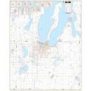 Traverse City, Grand Traverse Co., MI Wall Map
