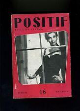 Cinéma revue POSITIF 16/1956 Aldrich Franju Marguerite de la nuit...