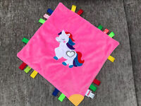 Nuby Pink Unicorn Comforter blankie Blanket Spotty Excellent Condition Taggies